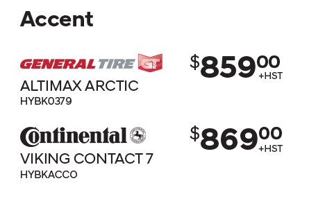 Accent Winter Tires