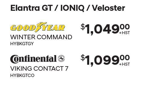 Elantra GT Winter Tires